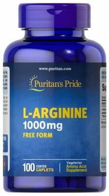 Puritan's Pride L-Arginine 1000mg (100 caps) > Amin turşuları >