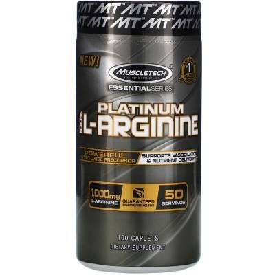 MuscleTech Platinum 100% L-Arginine (100 tab)