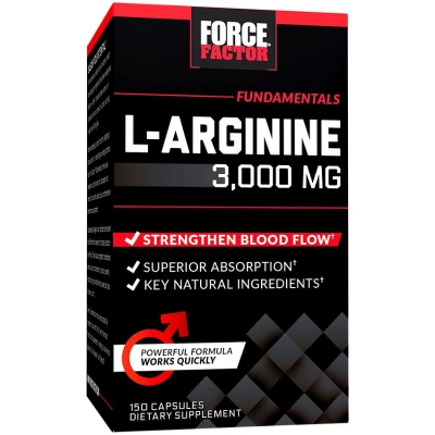 Force Factor L-Arginine 3000 (150 caps) > Amin turşuları >