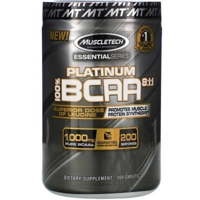 MuscleTech Platinum 100% BCAA 8:1:1 (200 tab)