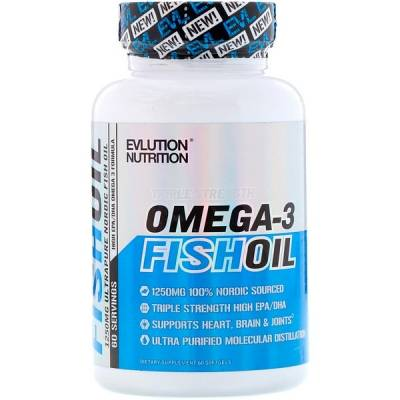 EVLution Nutrition Omega-3 Fish Oil (60 softgels)