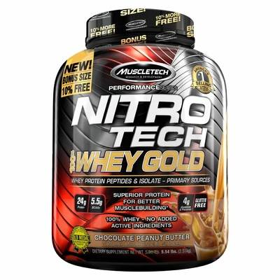 MuscleTech Nitro-Tech 100% Whey Gold (2.5kg)