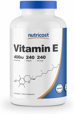 Nutricost Vitamin E 400IU (240 softgels)
