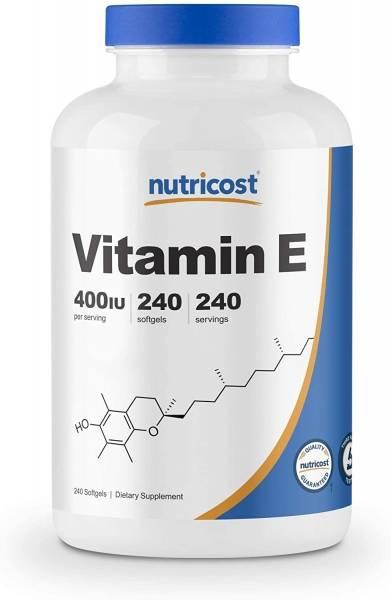 Nutricost Vitamin E 400IU (240 softgels) > Sport Supplements > Vitamins and minerals >