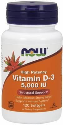 Now Vitamin D-3 5.000 IU (120 softgels)