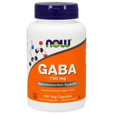 Now GABA 750 mg (100 caps)