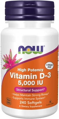 Now Vitamin-D3 5.000 IU (240 softgels)
